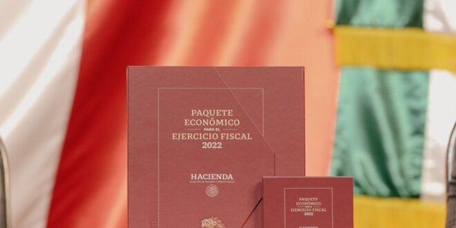 Entrega de documento de Paquete Económico 2022